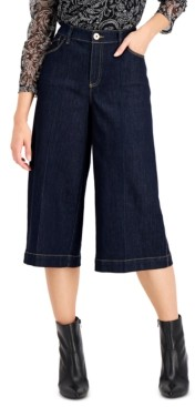 INC International Concepts Inc High-Rise Culotte Jeans, Created for Macy's