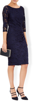 Monsoon Portia Heatseal Navy Clutch Bag