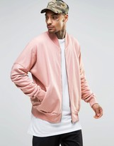 Granted Bomber Jacket With Rouched Sleeves