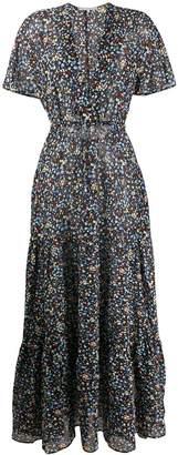 Stella McCartney deep-V printed maxi-dress