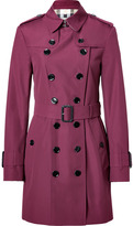 Burberry London Boysenberry Technical Cotton-Blend Queensbury Trench Coat