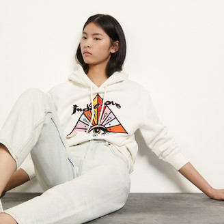 Sandro Embroidered hoodie