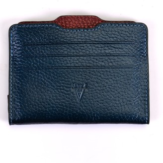 Atelier Hiva Double Card Holder Metallic Navy & Metallic Burgundy