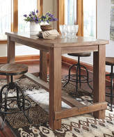 Signature Design by Ashley Light Brown Pinnadel Dining Room Counter Table