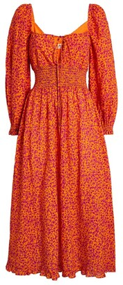 Peony Swimwear Floral Midi Dress