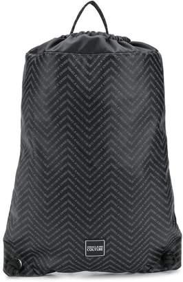 Versace chevron logo backpack