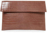Urban Expressions Latte Hugo Croc Embossed Clutch