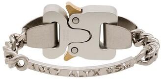 Alyx Silver-Tone Logo-Engraved Bracelet