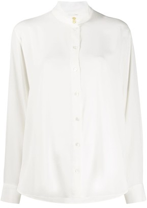 Paul Smith Mandarin collar loose-fit shirt