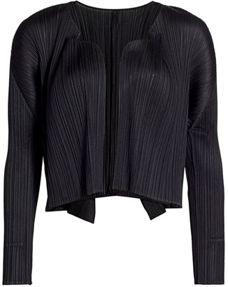 Pleats Please Issey Miyake Basics Pleated Cardigan