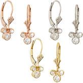 Disney Diamond Dangle Icon Mickey Mouse Earrings - 14K