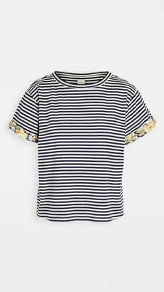 La Vie Rebecca Taylor Short Sleeve Striped Jersey