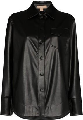 MATÉRIEL Faux Leather Shirt