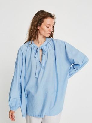 Skall Studio - Lyre Blouse Blue Chambray - XS