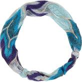 Metallic crochet-knit headband