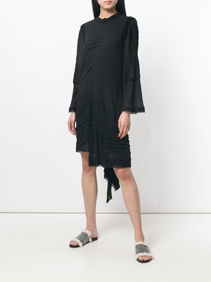 Chloé Ruffled Asymmetric Dress