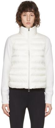 Moncler White Down Paneled Jacket