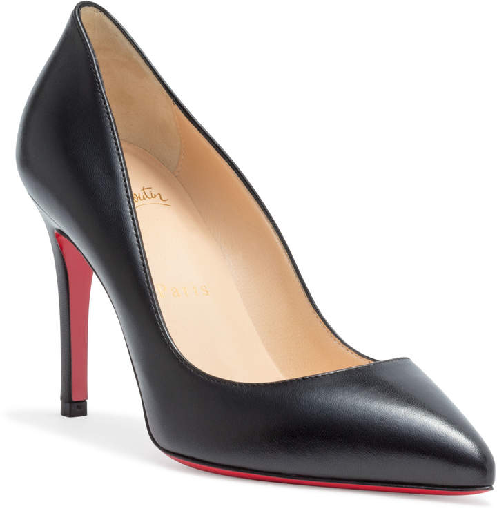 Christian Louboutin Pigalle 85 black leather pump