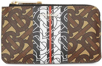 Burberry Monogram Stripe zip coin case