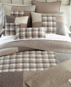 American Heritage Textiles Smoky Square Cotton Quilt Collection, Queen