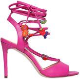 100mm Carmen Fruit Leather Sandals