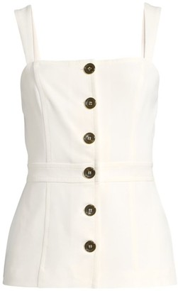 Donna Karan Button-Front Top