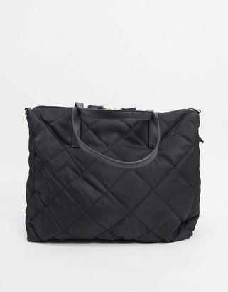 Accessorize Harri weekend bag in black quilting