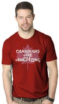 Crazy Dog T-shirts Crazy Dog Tshirts Mens Canadians Are EH Mazing Funny Canada Pride T shirt