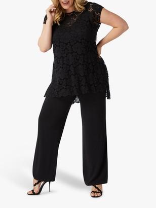 Live Unlimited Curve Lace Jumpsuit, Black