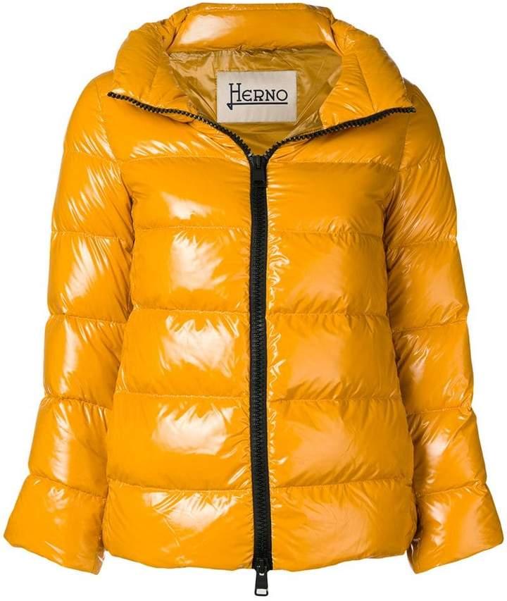 Herno zipped up puffer jacket