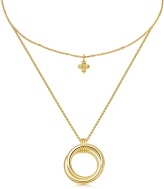Missoma Gold Entwine Cross Necklace Set