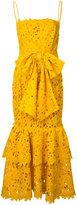 Bambah - lace double ruffle dress - women - Cotton/Polyester - 8