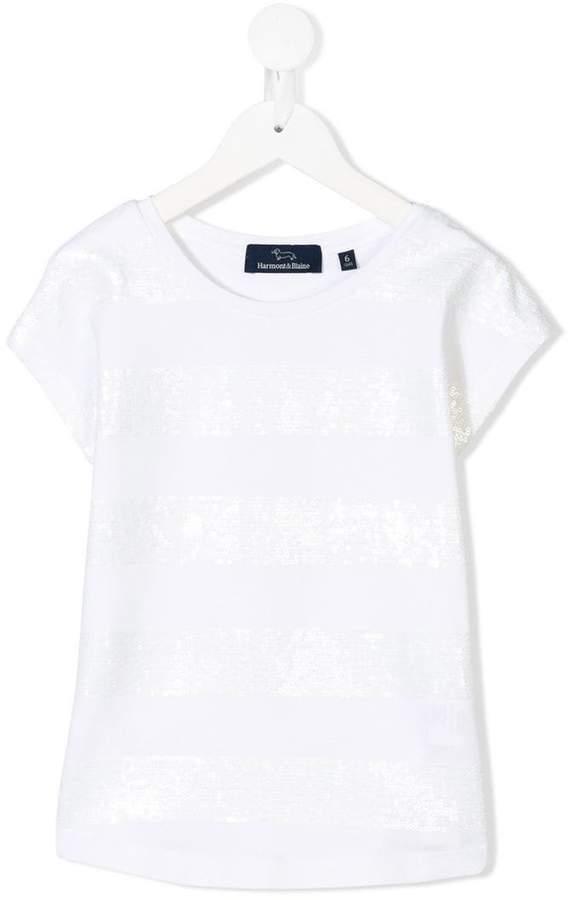 Harmont & Blaine Junior sequin embellished T-shirt
