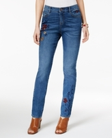 Style&Co. Style & Co Style & Co Petite Skinny Embroidered Jeans, Created for Macy's