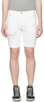 Levi's White Denim 511 Shorts