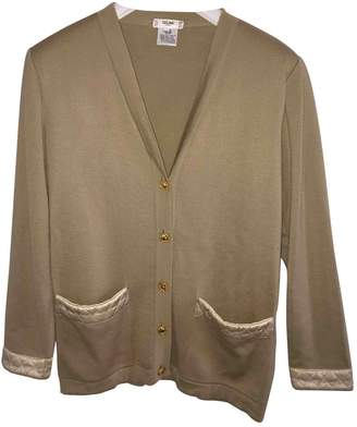 Celine Beige Wool Knitwear for Women Vintage