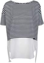 Fay Cropped Striped T-shirt