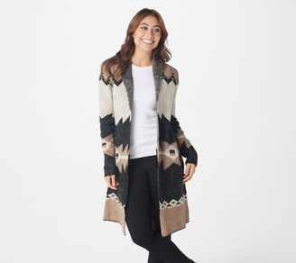Denim & Co. Jacquard Long-Sleeve Cardigan