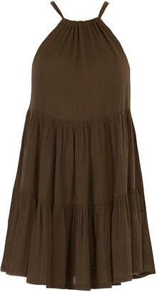 Peony Swimwear Tiered Mini Dress