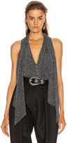 Jonathan Simkhai Glitter Jersey Sleeveless Top in Black | FWRD