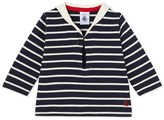 Petit Bateau Baby sailor-style top with sailor collar