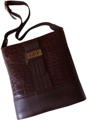 Gianfranco Ferre Brown Alligator Handbags