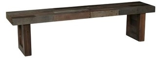 """Grosso Bench Loon Peak Size: 18"""" H x 55"""" W x 15"""" D, Color: Distressed Gray"""