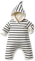 Petit Bateau Baby-Boys Newborn Hooded Striped Romper