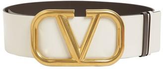 Valentino 70mm Go Logo Reversible Leather Belt