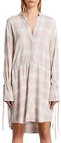 AllSaints Check Florence Shirt Dress, Pink Check