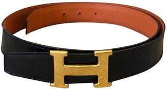 Hermã ̈S HermAs H Orange Leather Belts