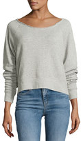Rag & Bone Raw-Neck Sweatshirt, Heather Gray