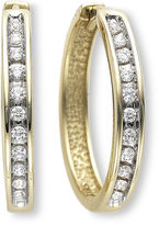 JCPenney FINE JEWELRY ? CT. T.W. Diamond Hoop Earrings