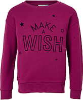 John Lewis Girls' Make-A-Wish Sweatshirt, Magenta Berry